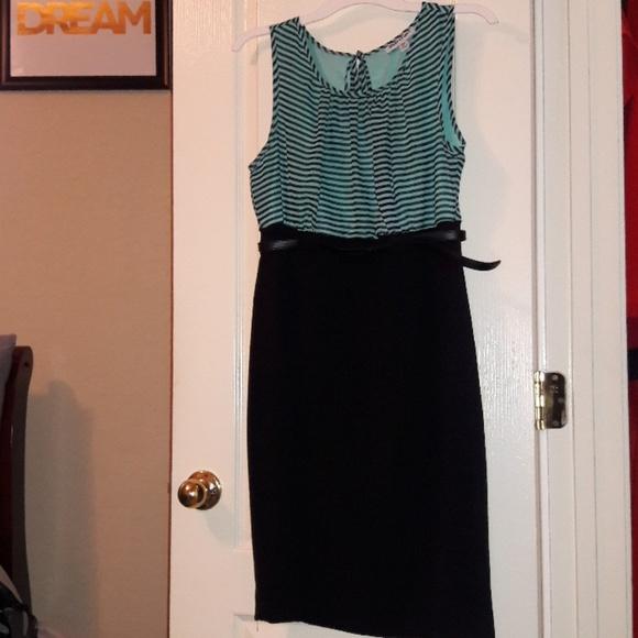 Shelby & Palmer Other - Mint/Black Strip Dress